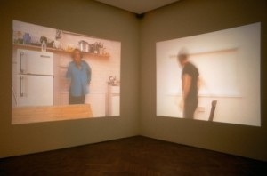Two projections form two cameras