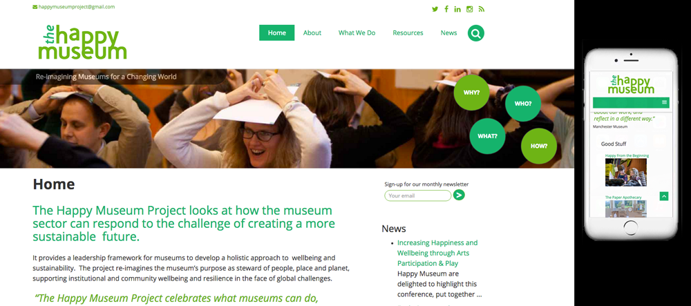 happy museum website screenshot